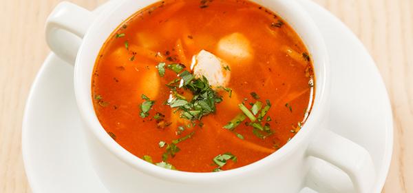 トマトとキャベツの具沢山スープ